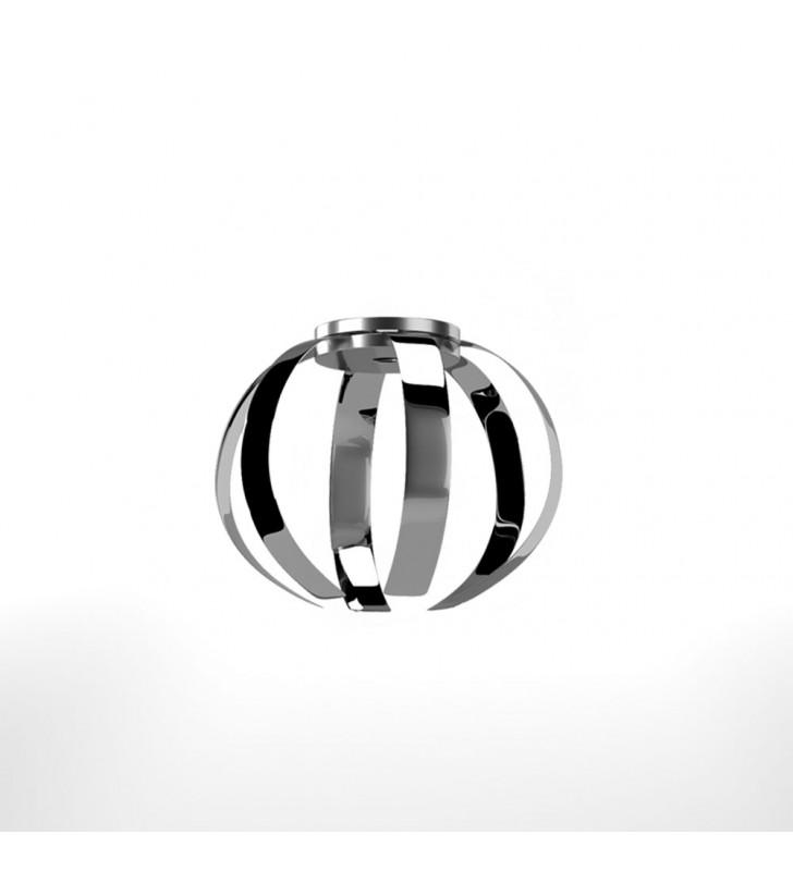 Φωτιστικό Κρεμαστό Corfu MED LIGHT Μεταλλικό Χρώμιο 1 Λάμπα Ε27, 27*27*97 MED-10362 - MedLight