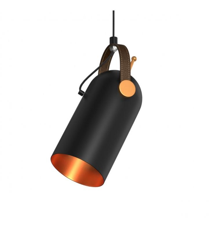 Φωτιστικό Μονόφωτο χρώμα Μαύρο με λεπτομέρειες χρυσό Διάμ. 10Cm DD-MA-0107 - Alpha