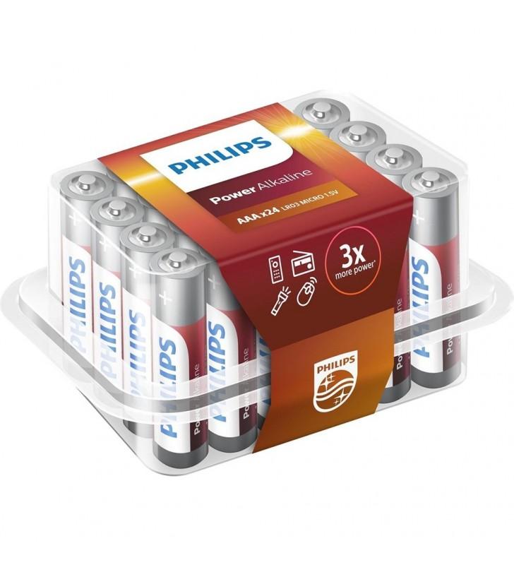 Μπαταρία Αλκαλική Philips Power Alkaline LR03 size AAA 1.5V 24 Τεμ.