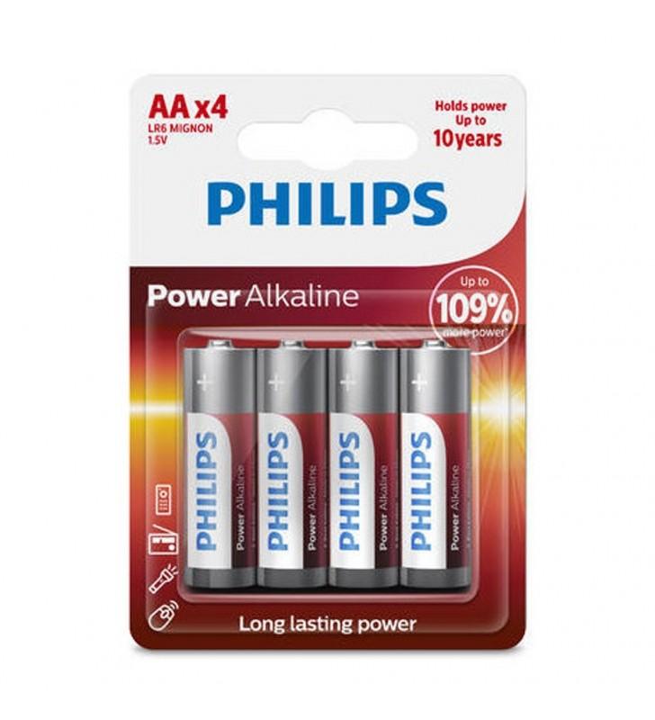 Μπαταρία Αλκαλική Philips Power Alkaline LR6 size AA 1.5V 4 Τεμ.