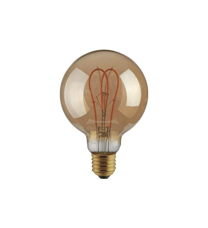 "ΛΑΜΠΑ LED G125 FILAMENT ""DECOR"" 5W E27 2000K 220-240V DIMMABLE GOLD - EUROLAMP (147-81807)"