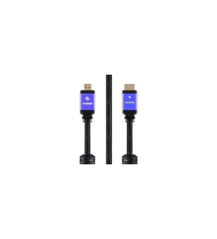 Καλώδιο HDMI 2.0 4k 3D, Copper, 3.6m, μωβ - STEREN (299-812-PR)
