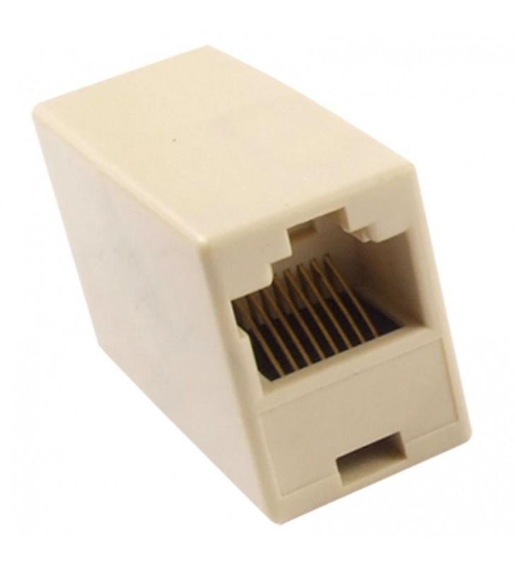 Μούφα RJ45 UTP θηλυκό/θηλυκό, 8p8c, λευκό - POWERTECH (CAB-N040)