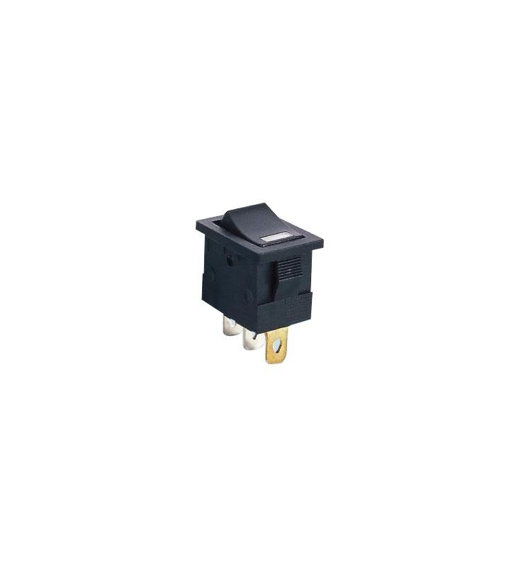 Διακόπτης rocker mini μαύρος φωτιζόμενος ON-ON 3P 15A / 12V - MIRS-101-3D-2