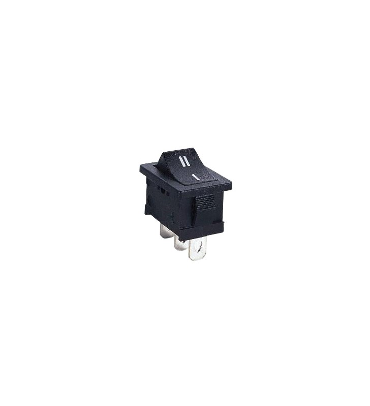 Διακόπτης rocker mini μαύρος ON-ON 3P 3A / 250V - MRS-102