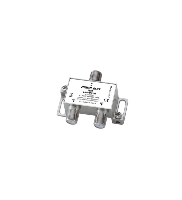 ΔΙΑΚΛΑΔΩΤΗΣ F 1 ΠΡΟΣ 2 με διέλευση τάσης (5-2400Μhz) PS02 POWER PLUS