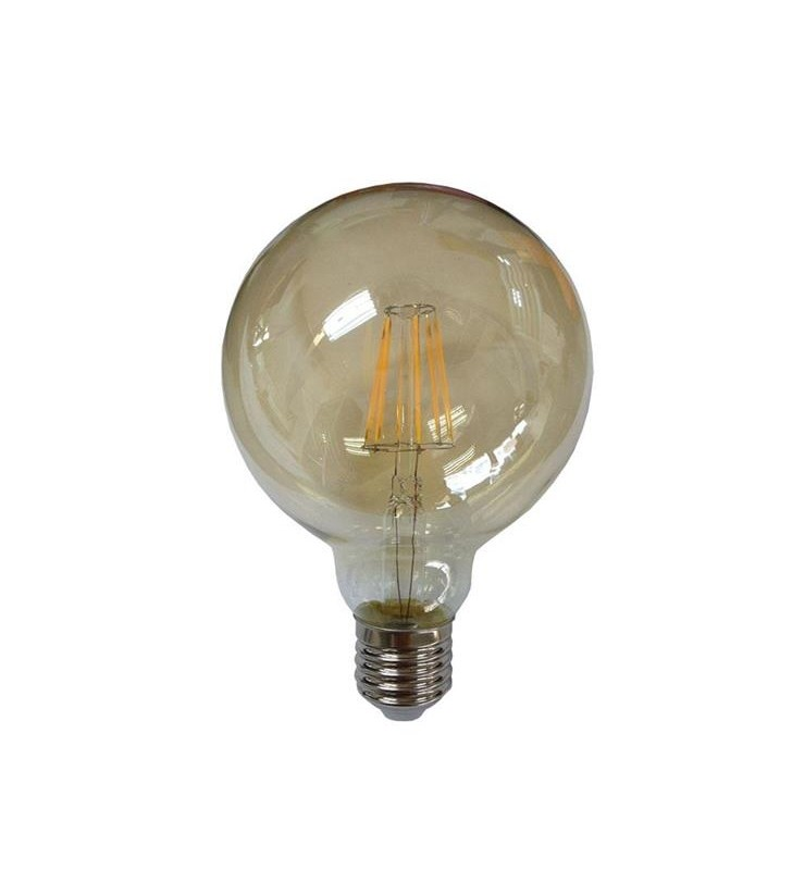 ΛΑΜΠΑ LED ΓΛΟΜΠΟΣ G95 FILAMENT 8W Ε27 2400K 220-240V GOLD GLASS DIMMABLE - EUROLAMP (147-81471)