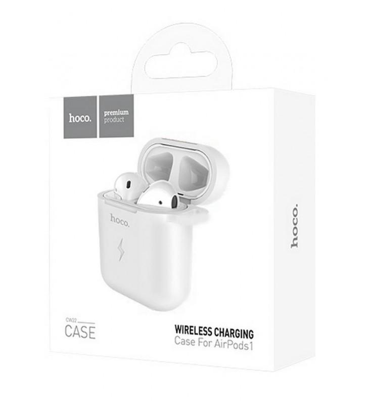 Θήκη Hoco CW22 Wireless Charging 5V/0.5A για Airpods Λευκή