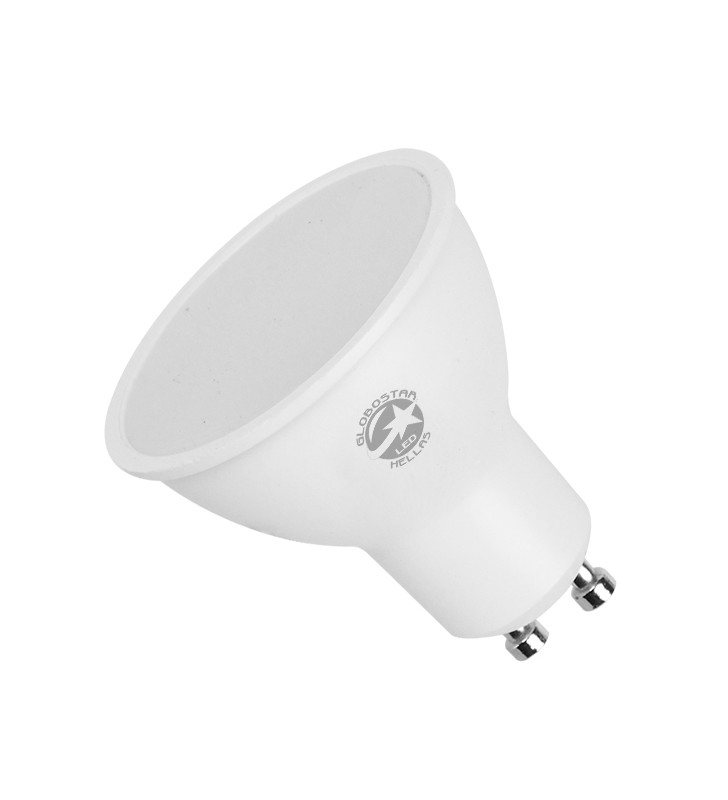 Λάμπα LED Σποτ GU10 6W 230V 560lm 120° Θερμό Λευκό 3000k GloboStar 01753