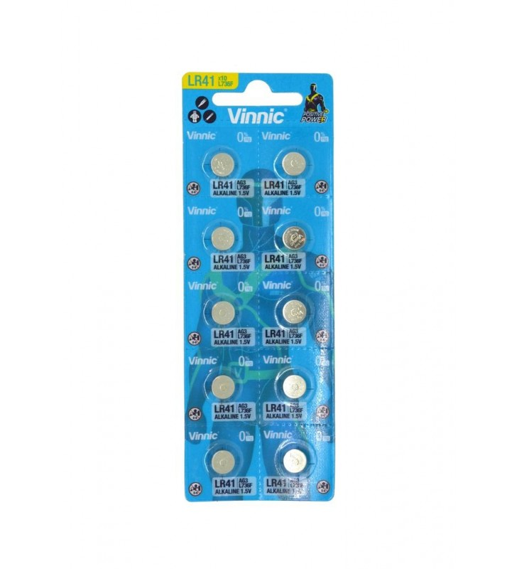 Buttoncell Vinnic L736F AG3 LR41 με Διάτρητη Συσκευασία (Τιμή 1 τμχ.)