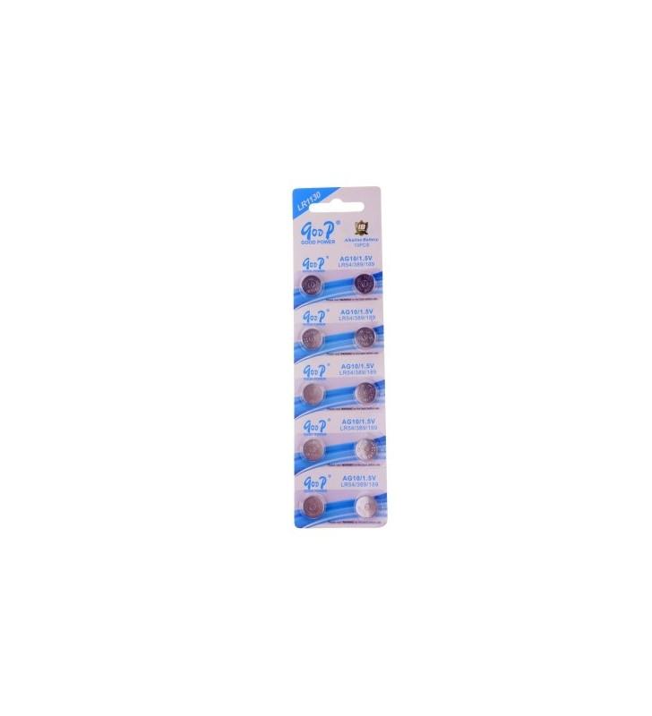 ΜΠΑΤΑΡΙΑ ΛΙΘΙΟΥ Buttoncell Goop LR 1130 LR 54 AG10 1ΤΕΜ