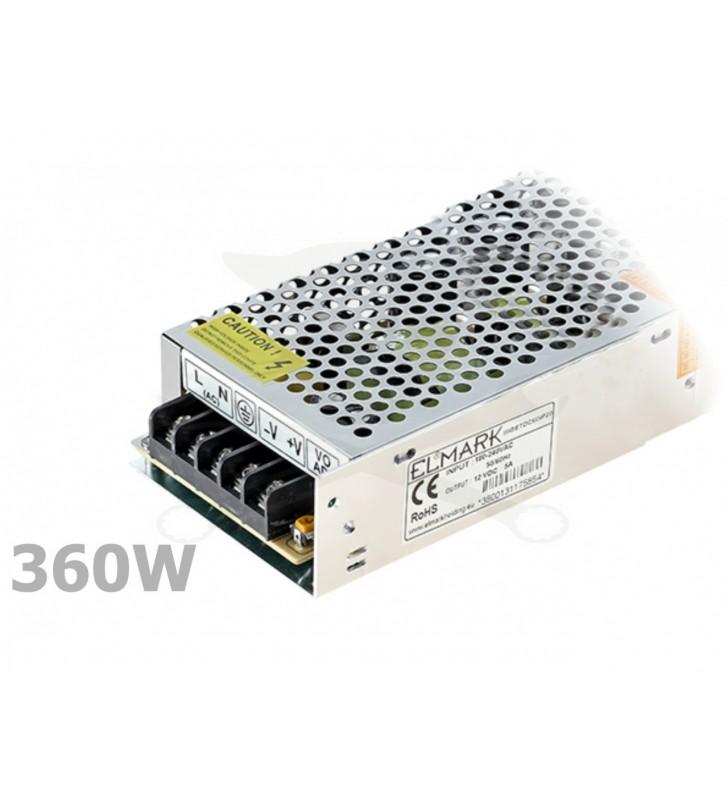 ΤΡΟΦΟΔΟΤΙΚΟ ΜΕΤΑΛΙΚΟ 360W 230VAC / 12VDC ELM