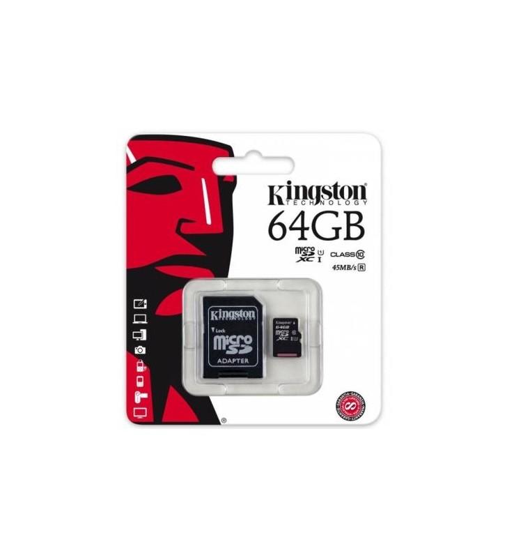 ΚΑΡΤΑ ΜΝΗΜΗΣ KINGSTON MICRO SDHC 64GB CLASS 10 ΜΕ ΑΝΤΑΠΤΟΡΑ