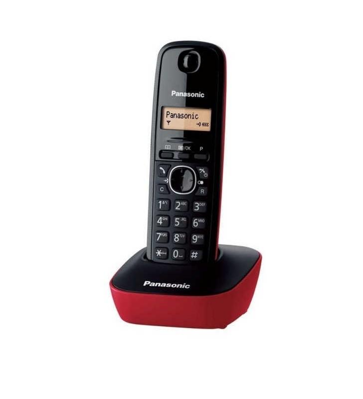 ΑΣΥΡΜΑΤΟ ΤΗΛΕΦΩΝΟ Panasonic KX-TG1611 Μαύρο-Κόκκινο