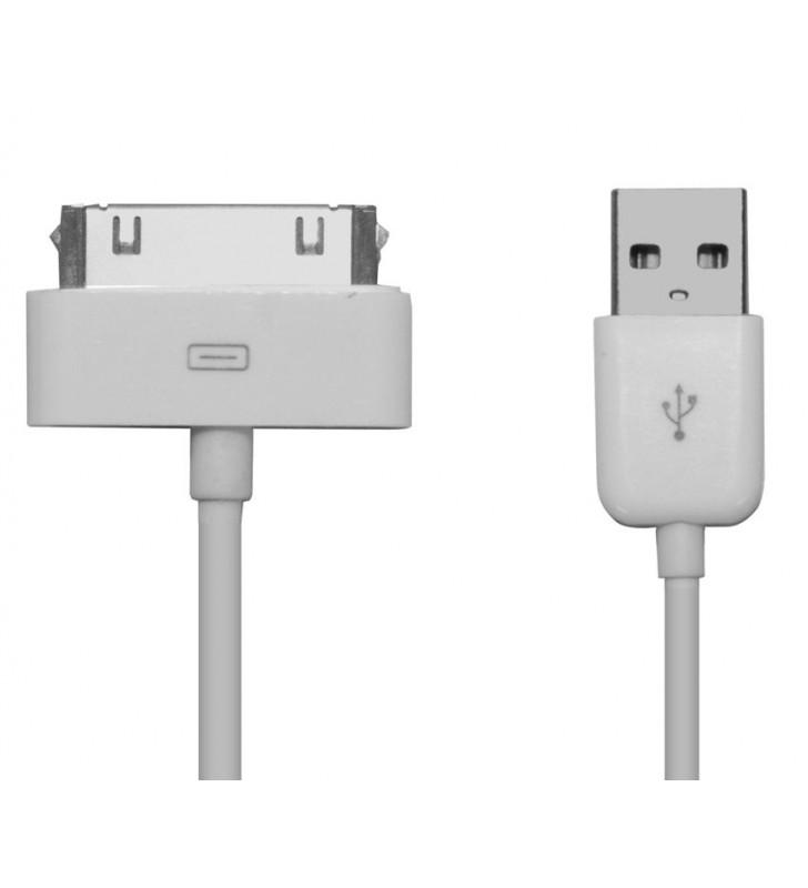 ΚΑΛΩΔΙΟ USB 2.0 ΓΙΑ IPAD & I PHONE 4/4S - 1m - WHITE POWERTECH