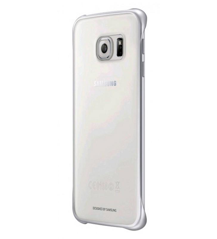 Θήκη Faceplate Samsung Clear Cover EF-QG925BSEGWW για SM-G925F Galaxy S6 Edge Διάφανο - Ασημί