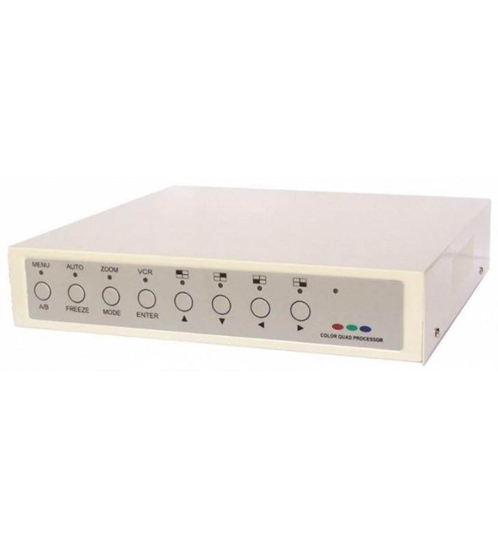 Έγχρωμο QUAD 4 καναλιών με ήχο και τηλεχειριστήριο