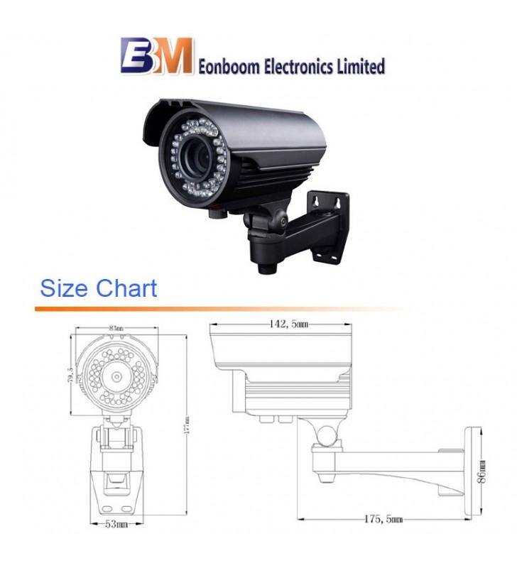 EONBOOM Varifocal IR Κάμερα Υπερ/ων IP65 2.8-12mm Sharp 600TVL 72 IR LED