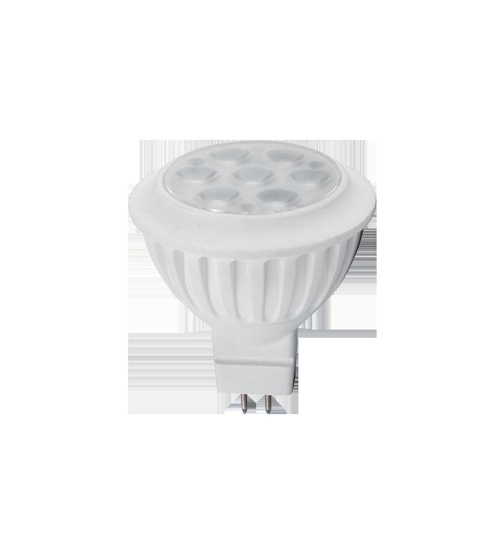 ΛΑΜΠΑ LED MR16 6W 12v AC 4000k ELM