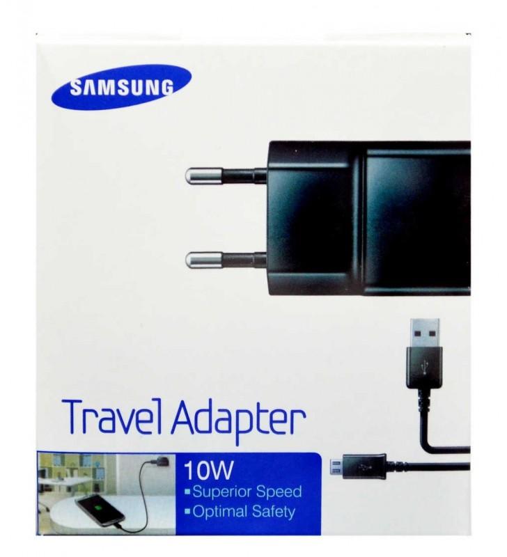 Φορτιστής Ταξιδίου Samsung ETA-U90EBE 10W Μαύρος / Αποσπώμενο Καλώδιο Micro USB 2000 mAh