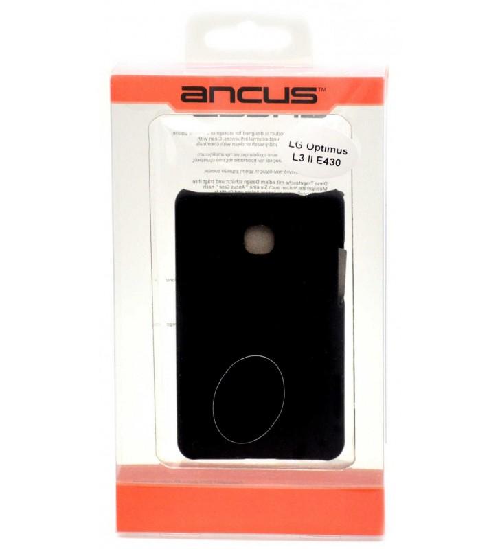 ΘΗΚΗ Faceplate Ancus για LG Optimus L3 II E430 Velvet Feel Μαύρη