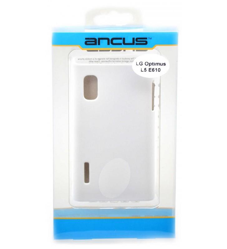 ΘΗΚΗ Faceplate Ancus για LG Optimus L5 E610 Velvet Feel Λευκή