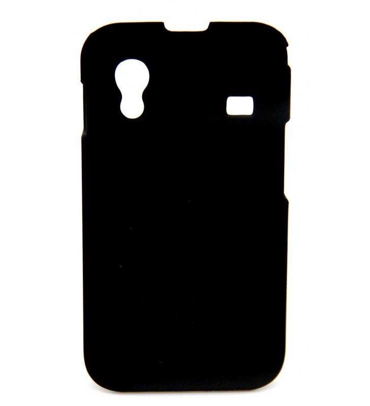 ΘΗΚΗ Faceplate Ancus για Samsung S5830 Galaxy Ace Velvet Feel Μαύρη