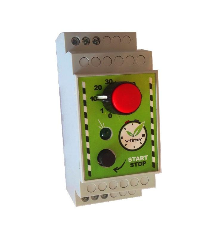 Αυτόματος χρονοδιακόπτης θερμοσίφωνα V-timer αναλογικός με ηχητική ειδοποίηση και ρελέ ισχύος