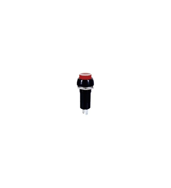 ΔΙΑΚΟΠΤΗΣ Button Push ON 2P RED ΣΤΡΟΓΓΥΛΟ Φ12