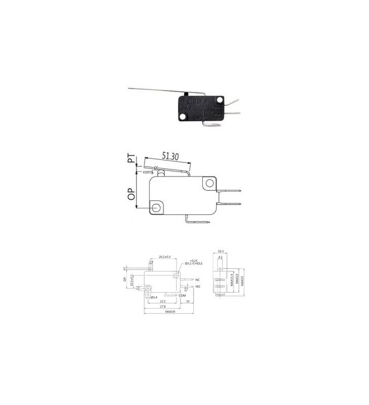 Μικροδιακόπτης (τερματικός) με Έλασμα Μακρή VM-05S-03C0-Z