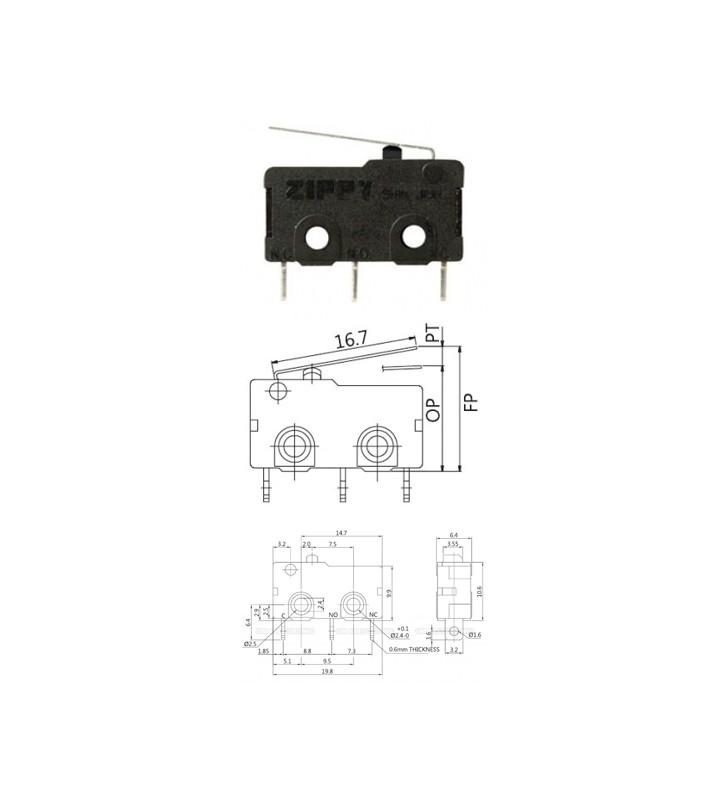 Μικροδιακόπτης (τερματικός) mini με Έλασμα SM-05S-01P0-Z