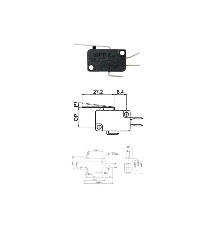 Μικροδιακόπτης (τερματικός) με Έλασμα VM-05S-02C0-Z