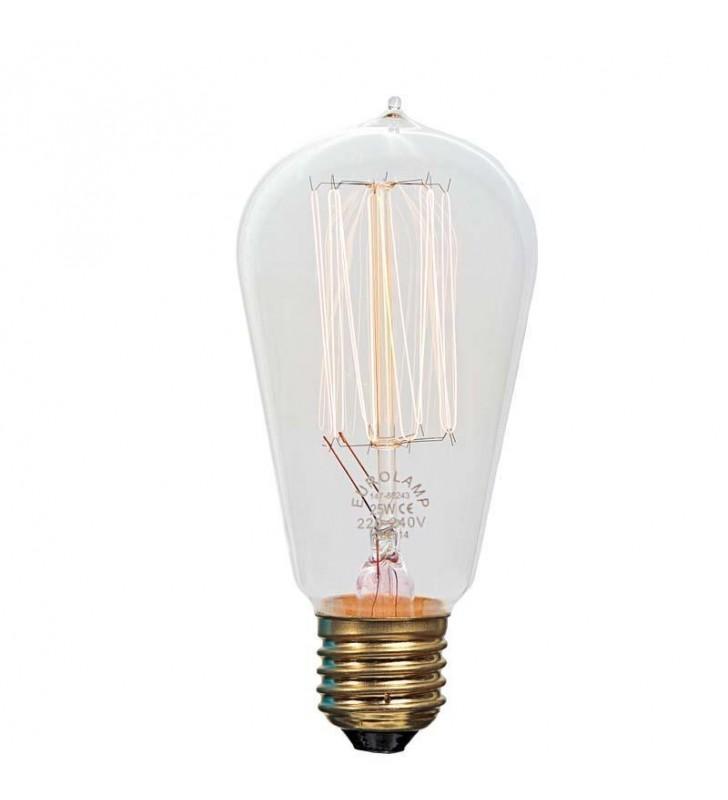 ΛAMΠA EDISON ST58 25W Ε27 240V (Eurolamp)