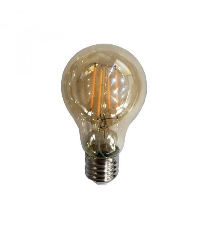 ΛΑΜΠΑ LED EDISON ΚΟΙΝΗ FILAMENT 7W E27 2400K 240V DIMMABLE GOLD (Eurolamp)