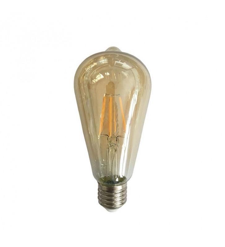 ΛΑΜΠΑ LED EDISON ST64 FILAMENT 4W E27 2400K 240V GOLD (Eurolamp)