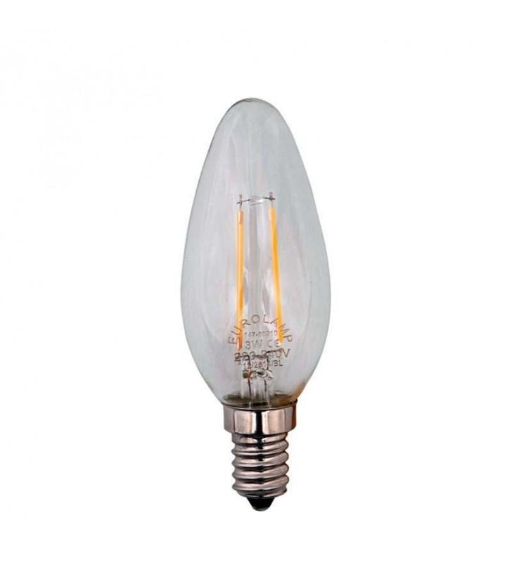 ΛΑΜΠΑ LED EDISON ΜΙΝΙΟΝ FILAMENT 3W E14 2700K 240V (Eurolamp)