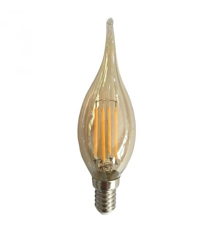 ΛΑΜΠΑ LED EDISON ΜΙΝΙΟΝ FILAMENT ΤΣΟΥΝΙ DIMMABLE 4W E14 2700K 240V GOLD (Eurolamp)