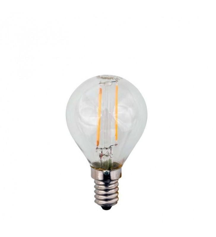 ΛΑΜΠΑ LED EDISON ΣΦΑΙΡΙΚΗ FILAMENT 3W E14 2700K 240V (Eurolamp)