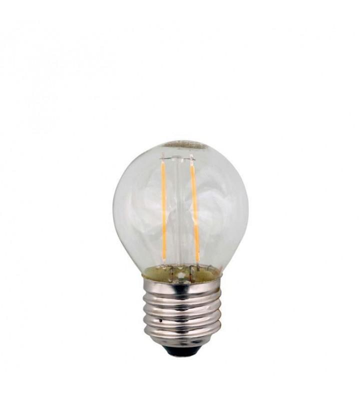 ΛΑΜΠΑ LED EDISON ΣΦΑΙΡΙΚΗ FILAMENT 3W E27 2700K 240V (Eurolamp)