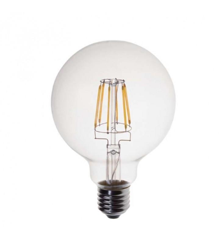 ΛΑΜΠΑ LED EDISON ΓΛΟΜΠΟΣ G95 FILAMENT 6W Ε27 2700K 240V (Eurolamp)