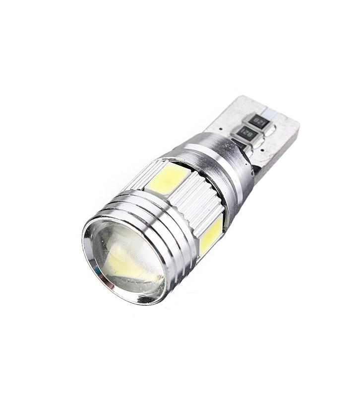ΛΑΜΠΑΚΙ LED ΑΥΤΟΚΙΝΗΤΟΥ T10 W5W 5630 LED SMD HID Canbus 6500k (ΨΥΧΡΟ)