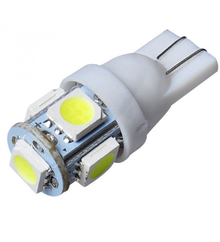 ΛΑΜΠΑΚΙ ΑΥΤΟΚΙΝΗΤΟΥ LED T10 5LED 5050 SMD W5W 12V 6500k (ΨΥΧΡΟ)