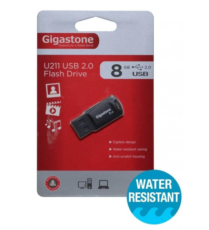 FLASH DISK USB 2.0 Gigastone U211 Traveler 8GB Μαύρο