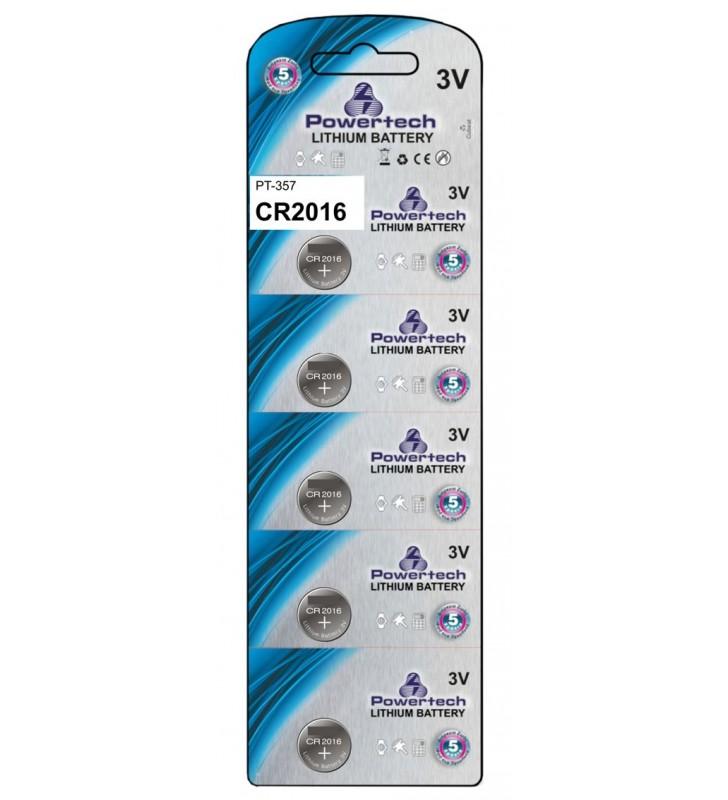 ΜΠΑΤΑΡΙΑ ΛΙΘΙΟΥ 3v CR2016 POWERTECH (Τιμή 1 τμχ.)