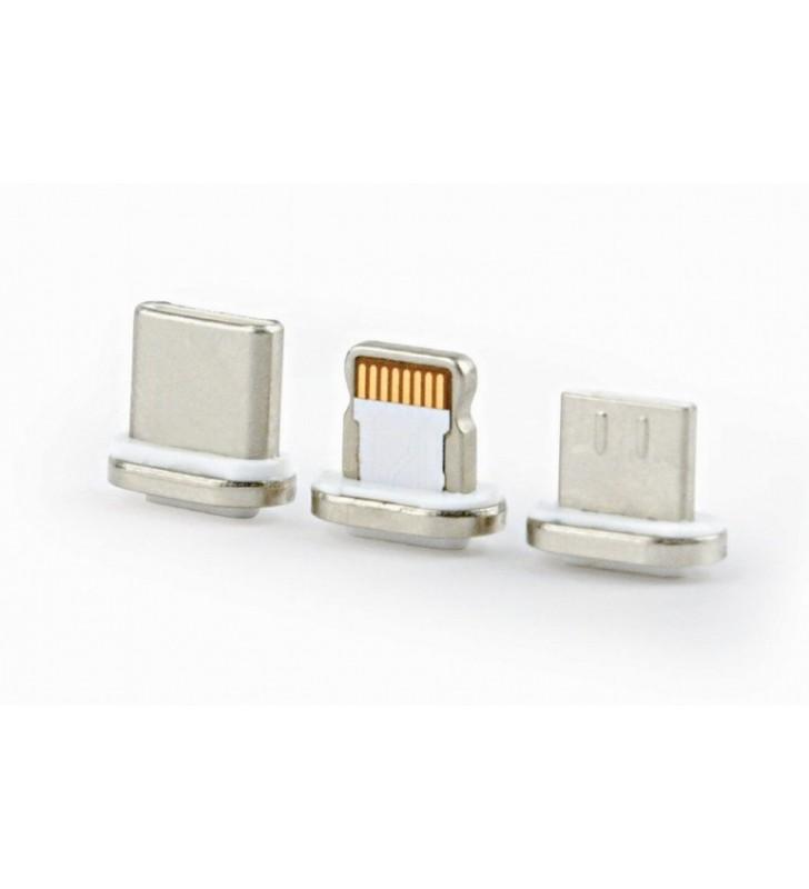 ΜΑΓΝΗΤΙΚΟ ΚΑΛΩΔΙΟ Micro USB / USB-C / Lightning CABLEXPERT (CC-USB2-AMLM31-1M)