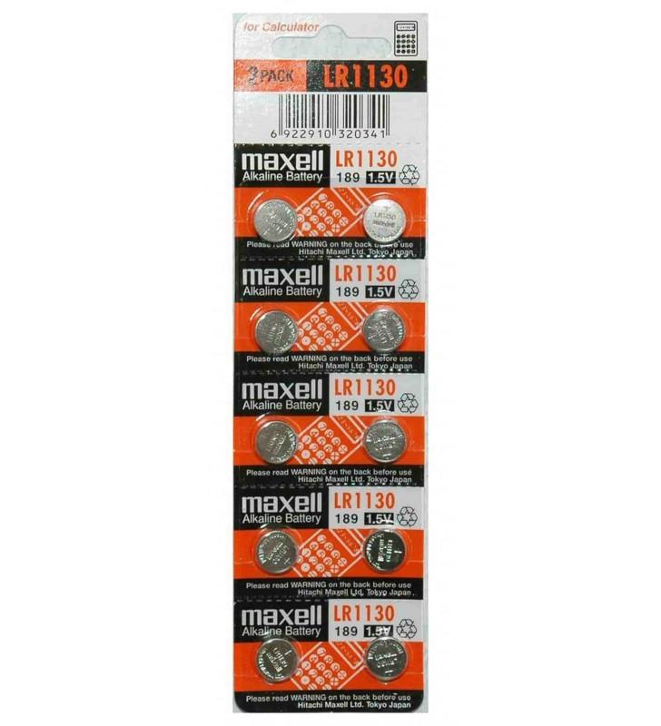 ΜΠΑΤΑΡΙΑ ΛΙΘΙΟΥ Buttoncell Maxell LR1130 LR54  389 390 AG10 (Τιμή 1 τμχ.)