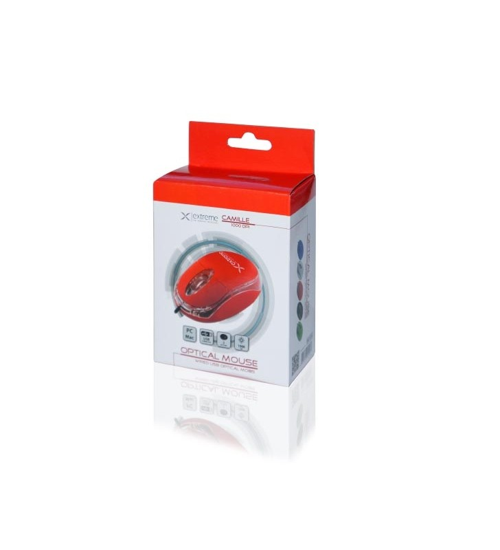 ΕΝΣΥΡΜΑΤΟ ΠΟΝΤΙΚΙ USB ΚΟΚΚΙΝΟ Extreme Camille 3D XM102R