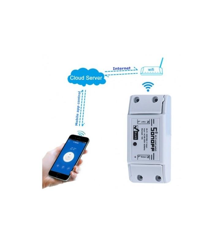 Original Sonoff Basic - Έξυπνος Ασύρματος Διακόπτης Wifi Για Κινητά Android/IOS 10A - Smart Home