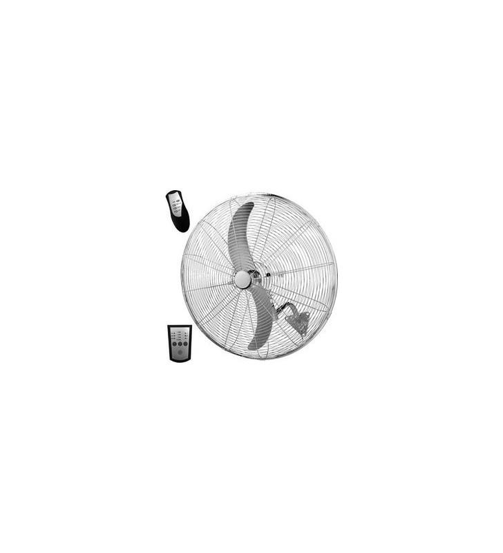 ΑΝΕΜΙΣΤΗΡΑΣ ΒΙΟΜΗΧΑΝΙΚΟΣ ΜΕΤΑΛΛΙΚΟΣ ΤΟΙΧΟΥ ΑΣΗΜΙ ΜΕ ΚΟΝΤΡΟΛ Φ66 180W Eurolamp (147-29043)
