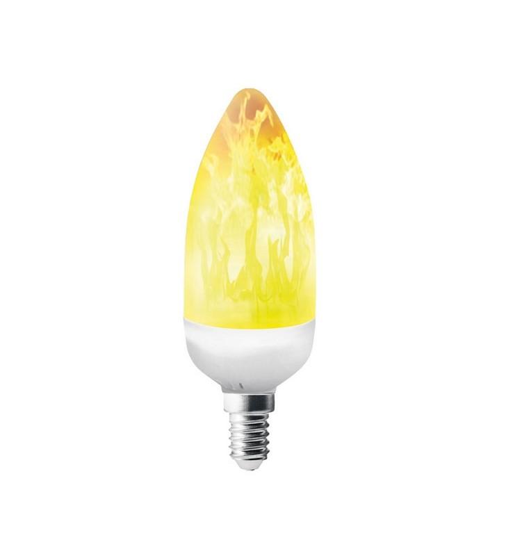 ΛΑΜΠΑ LED ΜΙΝΙΟΝ ΚΕΡΑΚΙ ΦΛΟΓΑ C37 3w E14 1500k EUROLAMP (147-81910)